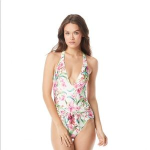Carmen Marc Valvo Floral Halter 1 PC Swimsuit 8